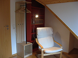 Single room in the attic