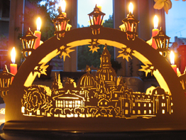 Candle arch 'Church of Our Lady, Dresden'