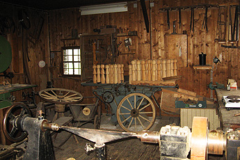 Wagon-maker's workshop at the Vogtsbauernhof