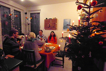 Christmas dinner at the Language Guesthouse