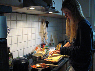Lasagne backen mit Carlotta