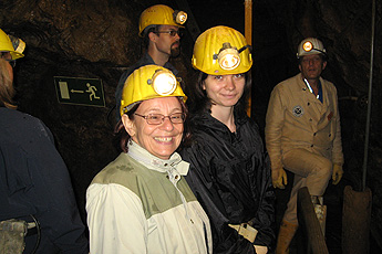 In the museum mine