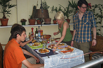 Barbecue evening with language students