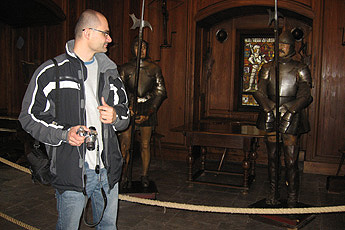 Haut-Koenigsburg /Armoury (with language student Ladia)