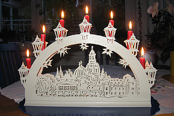 "Candle arch ""Church of Our Lady (Dresden)"""