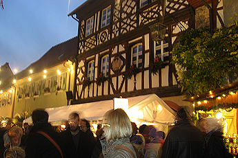 Christmas market in Burkheim